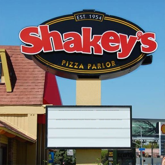 Shakey's famous marquee